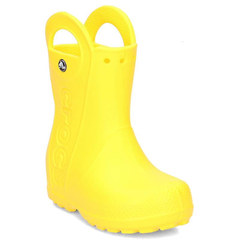 Detské gumáky CROCS-Handle It Rain Boot Kids Yellow - Detská obuv značky Crocs určená najmä na daždivé dni.
