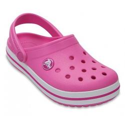 Dievčenské kroksy (rekreačná obuv) CROCS-Crocband Clog K Party Pink
