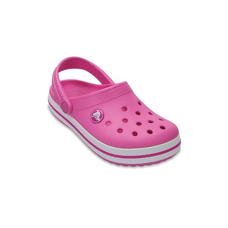 Dievčenská rekreačná obuv CROCS-Crocband Clog K Party Pink - Detská obuv značky Crocs v klasickom dizajne.
