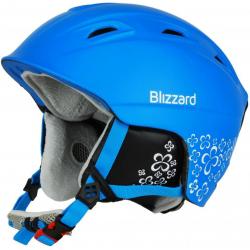 Dámska lyžiarska prilba BLIZZARD VIVA DEMON ski helmet, blue matt/white flowers