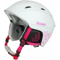 BLIZZARD VIVA DEMON ski helmet, white matt/magenta flower