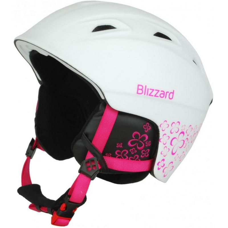 033c5b764 Lyžiarska prilba BLIZZARD-DEMON ski helmet junior, white matt/magenta  flowers - Kvalitná