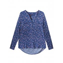 Dámska košeľa s dlhým rukávom VOLCANO-K-IBBIE-WOMEN-Blue