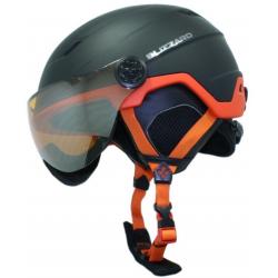 Lyžiarska prilba so štítom BLIZZARD Double Visor ski helmet, black matt/neon orange