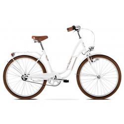 """Dámsky mestský bicykel KROSS-26"""" - BEST MOKKA D - white glossy"""