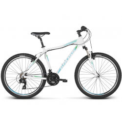 "Dámsky horský bicykel KROSS-26"" - Lea 1.0 - white turquse green glossy"