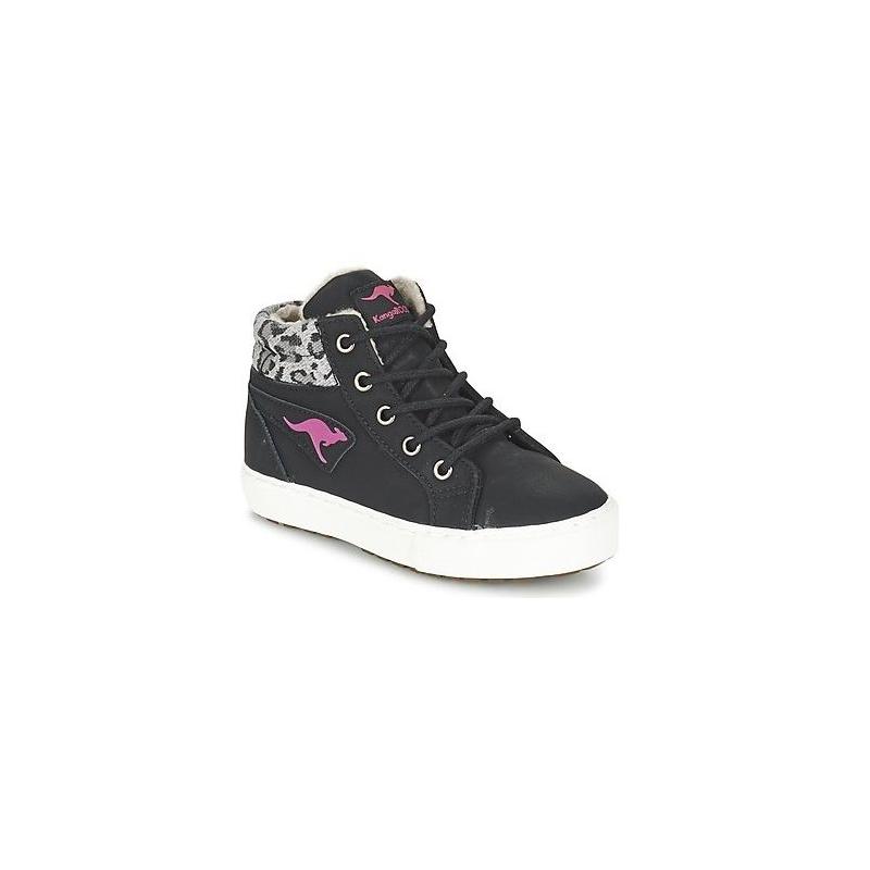Detská rekreačná obuv KangaROOS-KaVu I - black/magenta K - Detskávychádzková obuv značky Kangaroos.