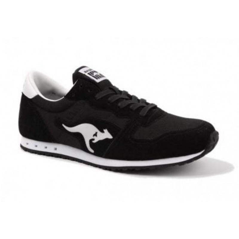 Rekreačná obuv KangaROOS-Blaze III -black/white - Obuv značky Kangaroos v športovom dizajne.