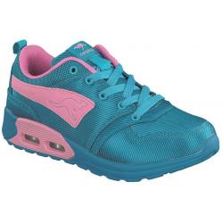 Juniorská rekreačná obuv KangaROOS-Kanga X 2000 -dk smaragd/pink