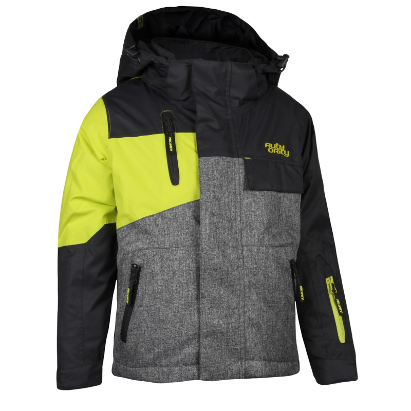 Chlapčenská lyžiarska bunda AUTHORITY-RONALL B grey - Detská lyžiarska bunda  značky Authority v hravom a3c0af561d2