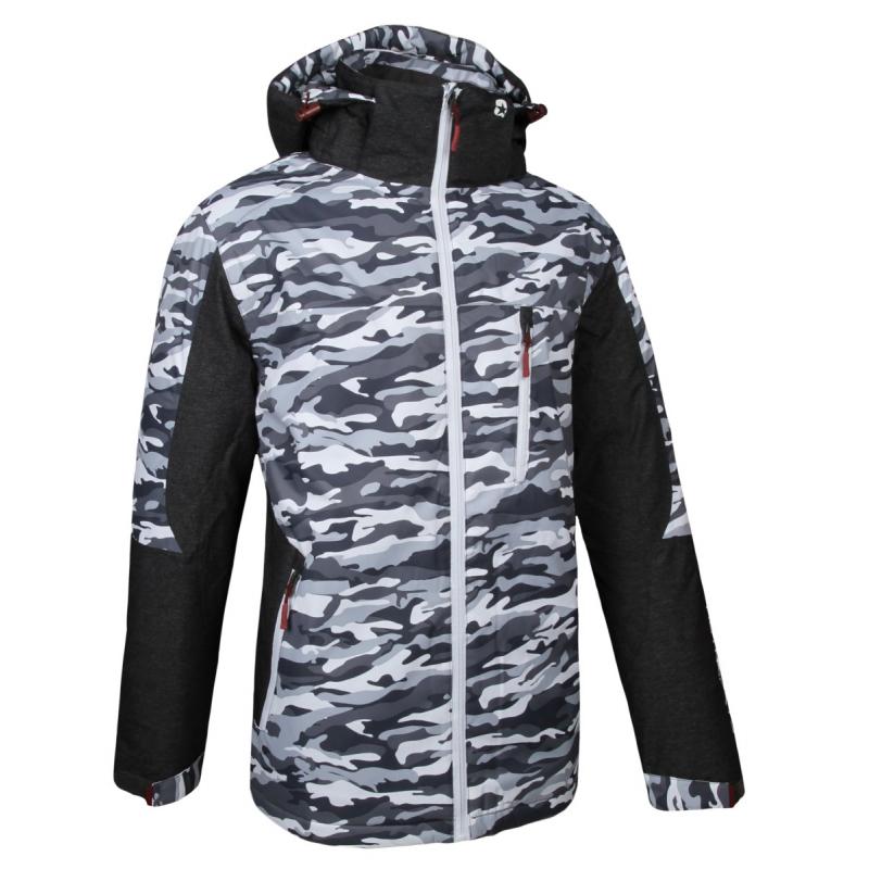Pánska lyžiarska bunda AUTHORITY-CAMO grey - Pánska lyžiarska bunda značky  Authority s trendy maskáčovým 86452dfac65