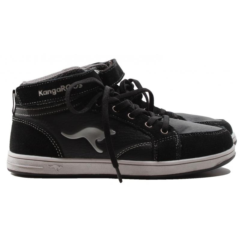 Juniorská rekreační obuv KangaROOS-Kanga Stuu 2013 black gray 33 Černá