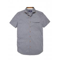 Pánska košeľa s krátkym rukávom VOLCANO-K-AJLANT-MEN-Blue