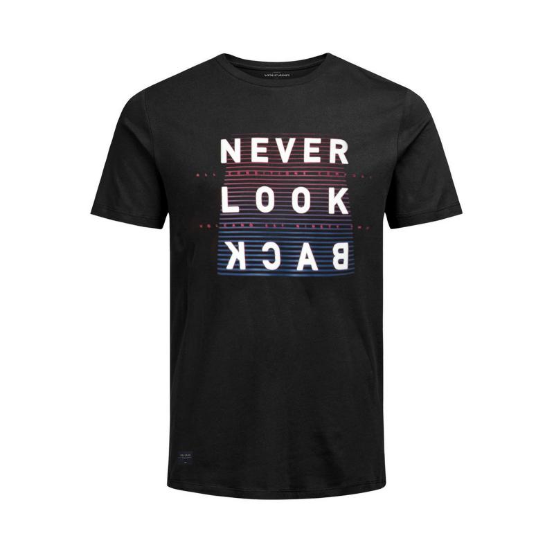 Tričko s krátkym rukávom VOLCANO-T-BLACK-MEN-Black  7fc6f4b32b