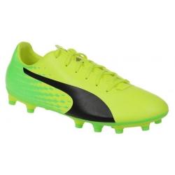 Pánske futbalové kopačky outdoorové PUMA-evoSPEED 17.5 FG Safety Yellow-Puma Blac
