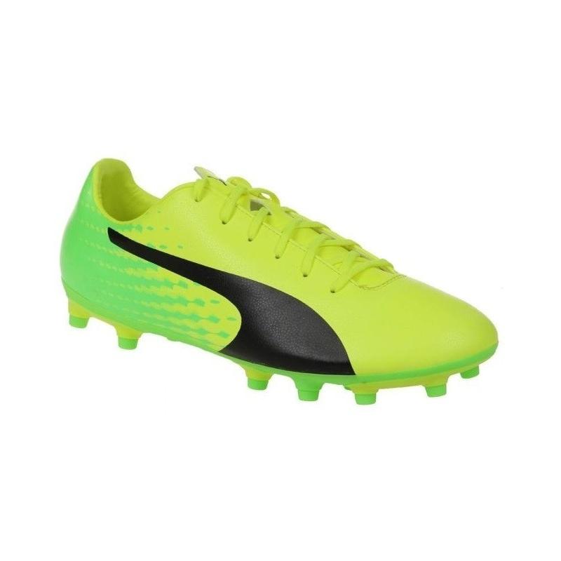 Pánske futbalové kopačky outdoorové PUMA-evoSPEED 17.5 FG Safety  Yellow-Puma Blac 35e5ea1dc48