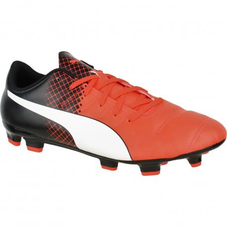 Pánske futbalové kopačky outdoorové PUMA-evoPOWER 4.3 FG Red Blast-Puma White-Pum