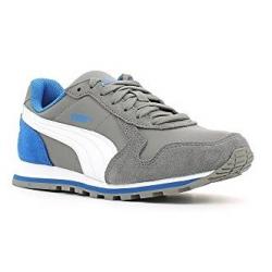 Juniorská vychádzková obuv PUMA-ST Runner L Jr steel gray-white