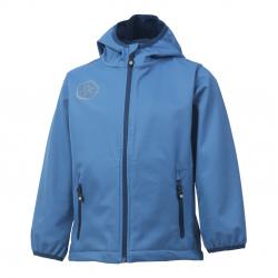 Chlapčenská turistická softshellová bunda COLOR KIDS-Barkin -BOYS-Blue