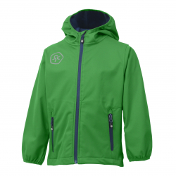 Chlapčenská turistická softshellová bunda COLOR KIDS-Barkin -BOYS-Green