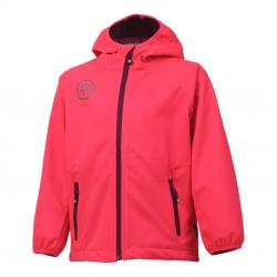 Dievčenská turistická softshellová bunda COLOR KIDS-Barkin -GIRLS-Pink dark