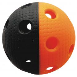 Florbalová loptička MPS TRIX čierno-oranžová