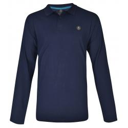 Pánske polo tričko s dlhým rukávom BERG OUTDOOR-ANDERDALEN-MEN-Blue dark