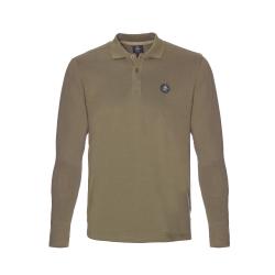 Pánske polo tričko s dlhým rukávom BERG OUTDOOR-ANDERDALEN-MEN-Green dark