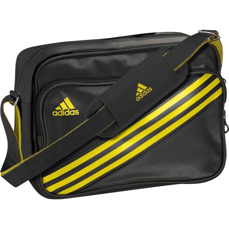 bag and enamel yellow messenger adidas noir QrChdxts