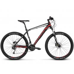 "Horský bicykel KROSS-27,5"" - Level 4.0 - black red white matte"