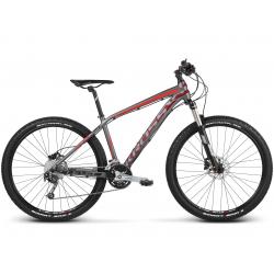"Horský bicykel KROSS-27,5"" - Level 5.0 - graphitte burgundy red matte"