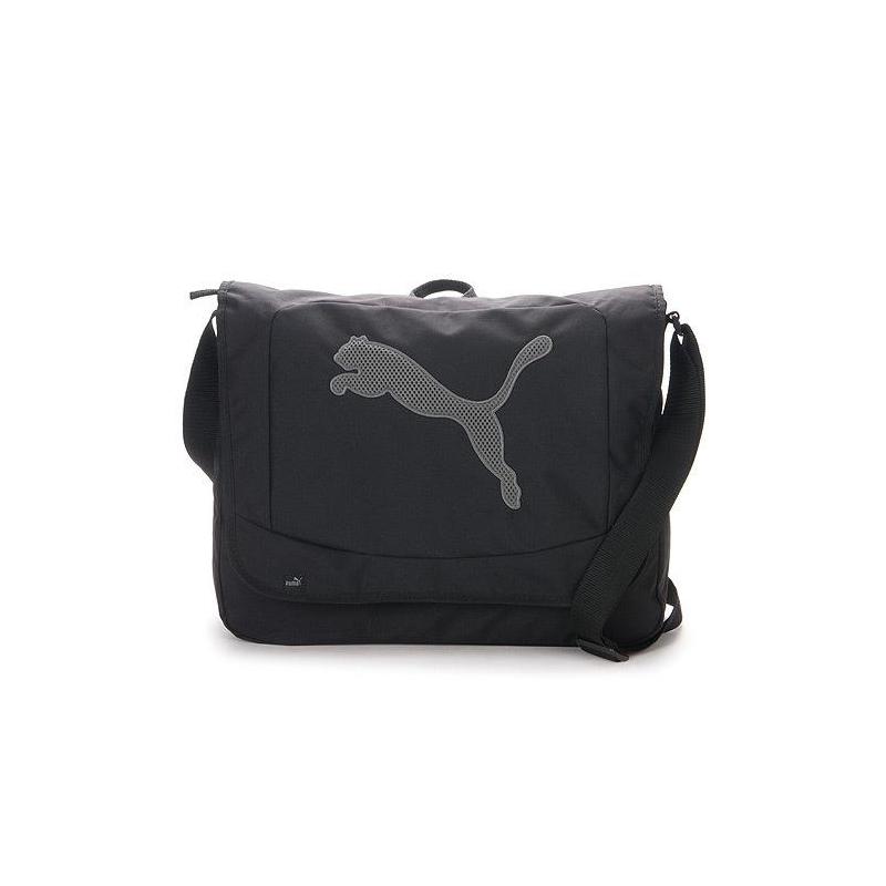 8e16b78f0333 Pánska taška cez rameno PUMA-Big Cat Shoulder Bag black-dark shadow -