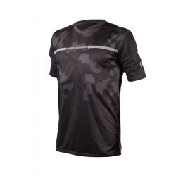 Pánske bežecké tričko s krátkym rukávom NORTHFINDER-OLAF-Black