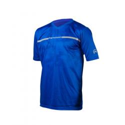 Pánske bežecké tričko s krátkym rukávom NORTHFINDER-OLAF-Blue