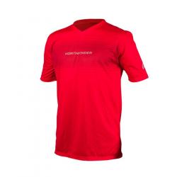 Pánske bežecké tričko s krátkym rukávom NORTHFINDER-ROGAR-Red