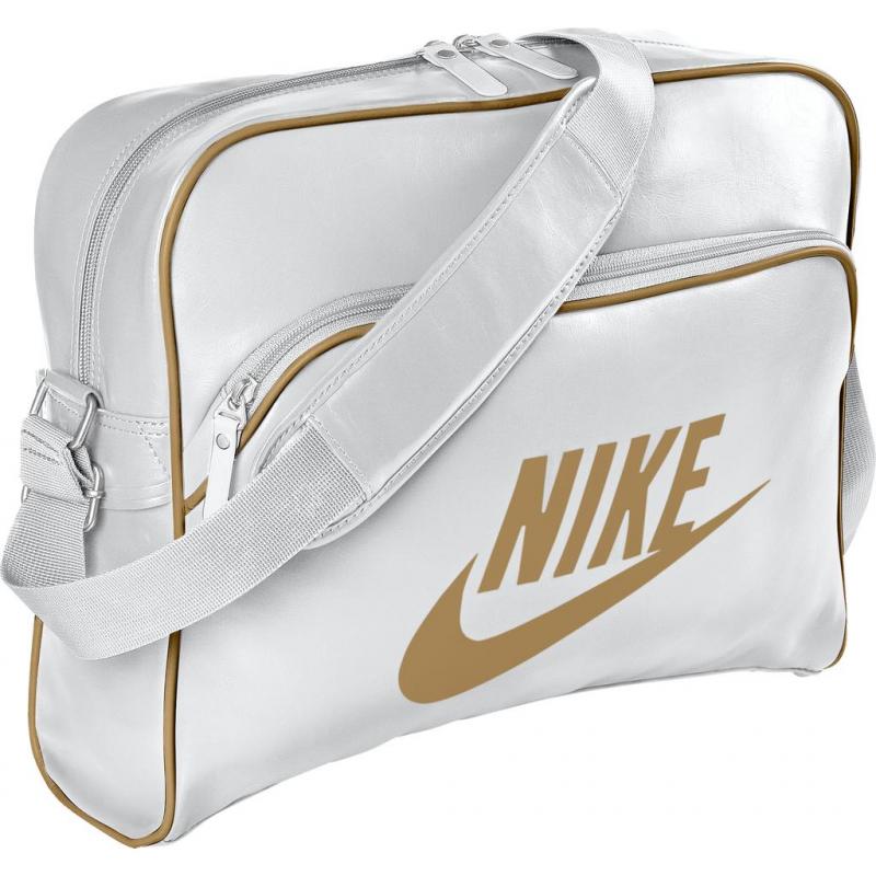 414beb2508 Taška cez rameno NIKE-HERITAGE SI TRACK BAG white -