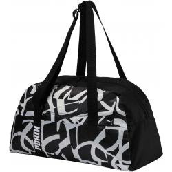 Dámska taška cez rameno PUMA-Core Active Sportsbag M Puma Black-Puma