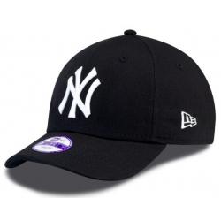 Juniorská šiltovka NEW ERA-940 MLB LEAGUE BASIC NY YANKEES BLACK/WHT YOUNG NOS