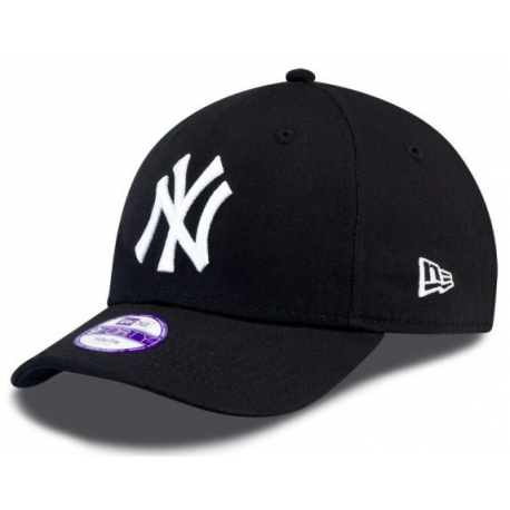 Juniorská kšiltovka NEW ERA-940 MLB LEAGUE BASIC NY Yankees BLACK / WHT YOUNG NOS