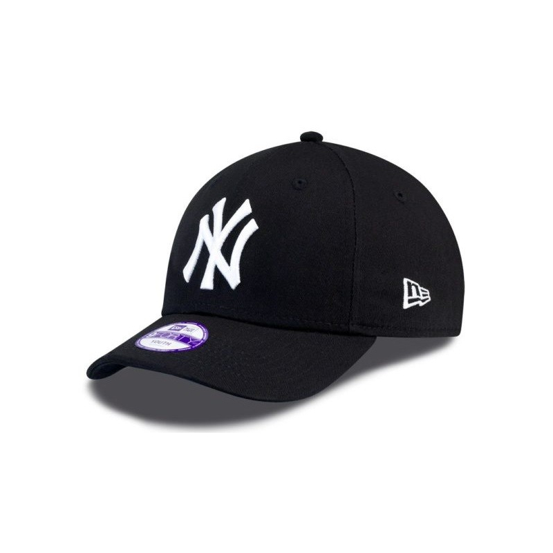Juniorská šiltovka NEW ERA-940 MLB LEAGUE BASIC NY YANKEES BLACK/WHT YOUNG NOS - Juniorská šiltovka značky New Era.