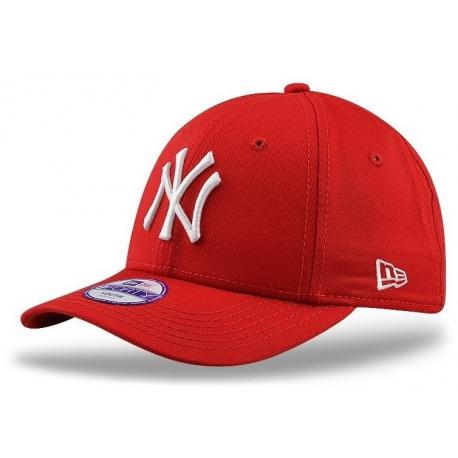 Juniorská šiltovka NEW ERA-940 MLB LEAGUE BASIC NY YANKEES RED/WHITE YOUNG NOS