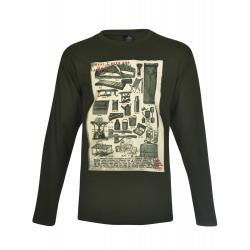 Pánske tričko s dlhým rukávom BERG OUTDOOR-LOUVET-MEN-Green dark