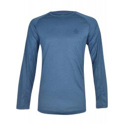 Pánske turistické tričko s dlhým rukávom BERG OUTDOOR-NAHANNI-MEN-Blue dark