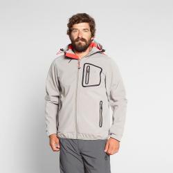 Pánska turistická softshellová bunda BERG OUTDOOR-YUKON-MEN-Grey light