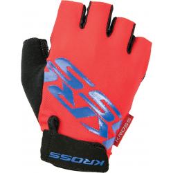 Cyklistické rukavice KROSS-GLOVES RED/BLUE FLOW SF XXL