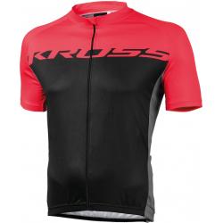 Cyklistický dres s krátkym rukávom KROSS-JERSEY RED FLOW