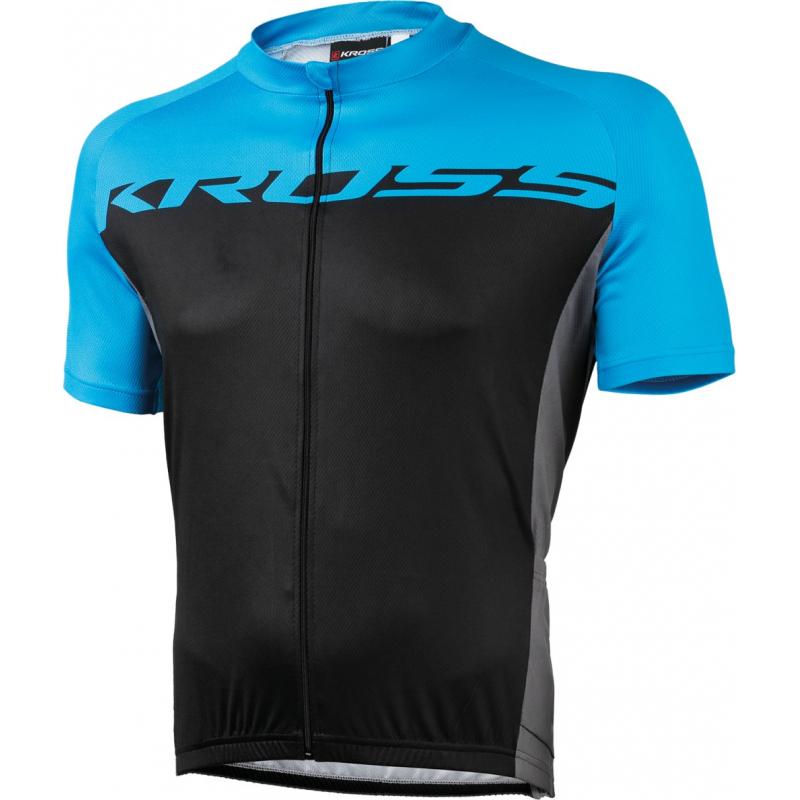 Cyklistický dres s krátkym rukávom KROSS-JERSEY BLUE FLOW - Pánsky cyklistický dres značky Kross.