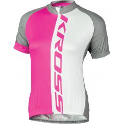Cyklistický dres KROSS-JERSEY PINK FLOW LADY