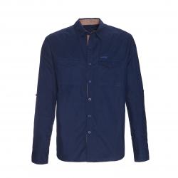 Pánská turistická košile s dlouhým rukávem BERG OUTDOOR-HAY-MEN-BLACK IRIS