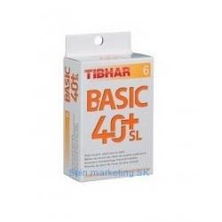 Stolnotenisová lopta TIBHAR Loptičky TIBHAR BASIC 40+ SL, X6,W
